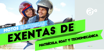 ultimas motos electricas exentas de matricula y soat
